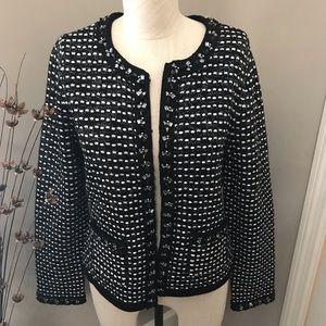WHBM Embellished Sweater Jacket